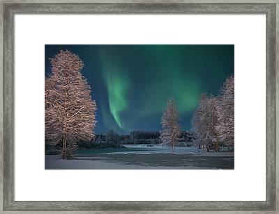 Moonlit Aurora Framed Print