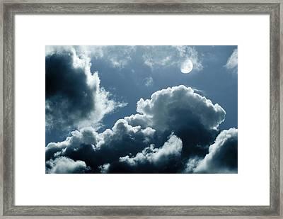 Moonlit Clouds Framed Print by Detlev Van Ravenswaay