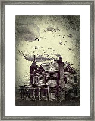 Moonlit Night Framed Print by Kathy Jennings