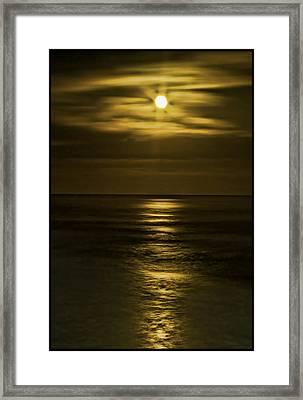 Moonlit Pacific Framed Print by Dale Stillman