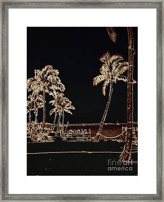 Moonlit Palms Framed Print by Rene Triay Photography