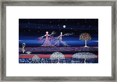 Moonlove Dance Framed Print by Farshad Sanaee The Apple