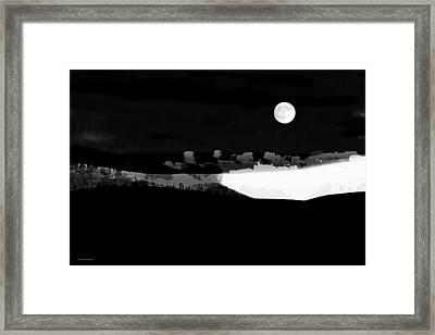 Moonrise Adams Country Framed Print by Ron Jones