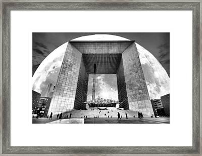 Moonrise In Paris Framed Print by Thomas Splietker