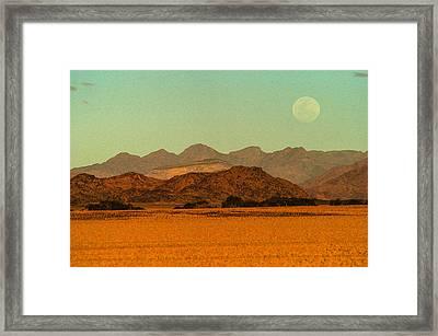 Moonrise Moment Framed Print