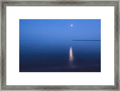 Moonrise On Lake Superior Framed Print