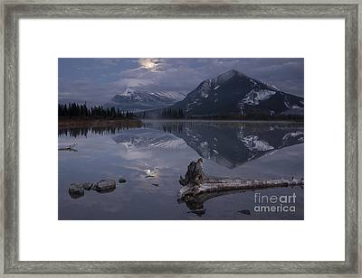 Moonrise Over Banff Framed Print by Keith Kapple
