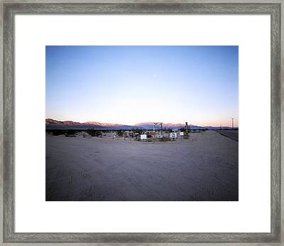 Moonrise Over Barbara Lane Framed Print by Jan W Faul