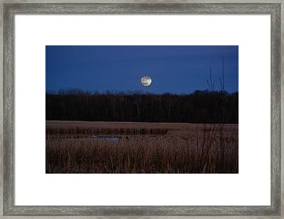 Framed Print featuring the photograph Moonrise by Steven Clipperton