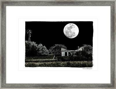 Moon's Light Framed Print by Travis Burgess