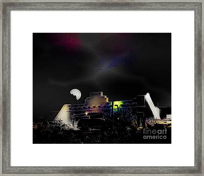 Moonset - Wild Horse Saloon Framed Print by Arne Hansen