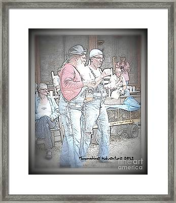 Framed Print featuring the digital art Moonshine Adventure by Angelia Hodges Clay