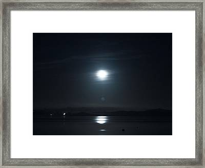 Moonshine Framed Print by Christopher Mercer