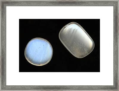 Moonstone Gemstones Framed Print