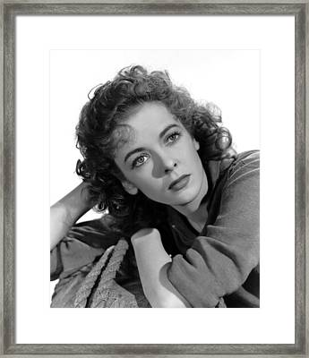 Moontide, Ida Lupino, 1942 Framed Print