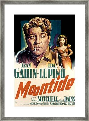 Moontide, Jean Gabin, Ida Lupino, 1942 Framed Print