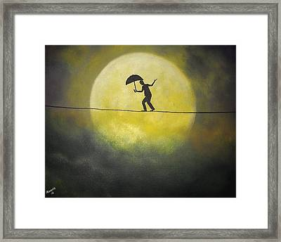 Moonwalker Framed Print