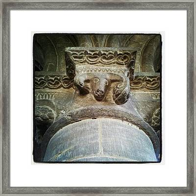 #moorcot, #church, #rutland, #carving Framed Print