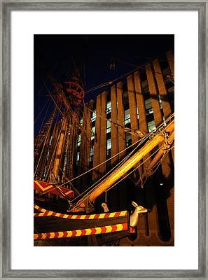 Moored For The Night Framed Print