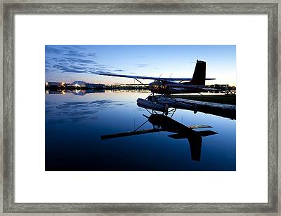 Moored For The Night Framed Print by Tim Grams