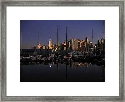 Moored For The Night Framed Print by Will Borden