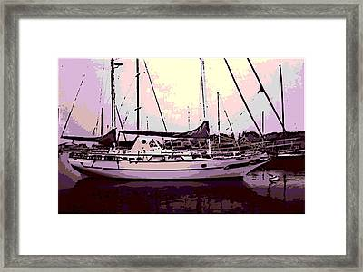 Moored Framed Print by George Pedro