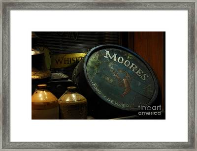 Moore's Tavern After Closing Framed Print by Mary Machare