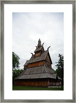 Moorhead Stave Church 26 Framed Print
