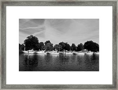 Framed Print featuring the photograph Mooring Line by Maj Seda