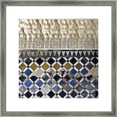 Moorish Wall Mosaic Framed Print by Heiko Koehrer-Wagner