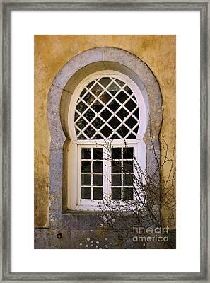 Moorish Window Framed Print by Carlos Caetano