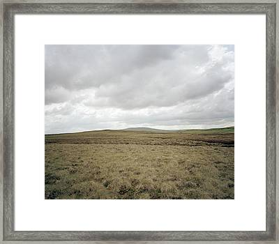 Moorland Framed Print by Michael Marten