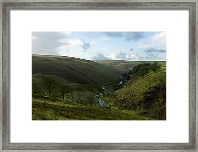 Moorland Valley Framed Print by Dr Keith Wheeler