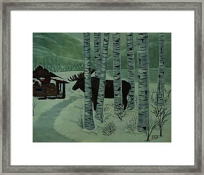 Moose Lake Framed Print by Barbara St Jean
