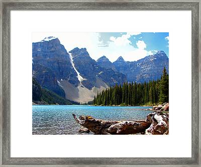 Moraine Lake Banff National Park Alberta Framed Print
