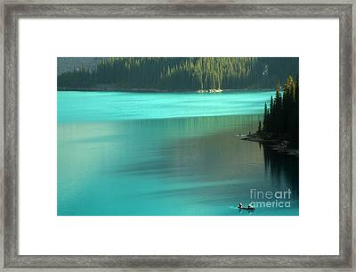 Framed Print featuring the photograph Moraine by Milena Boeva