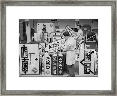 More Roadsigns Framed Print by Ward