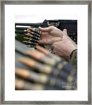 More Than 3,000 Rounds Were Fired Framed Print by Stocktrek Images