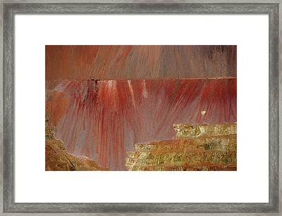 Framed Print featuring the photograph Morenci Mine by Vicki Pelham
