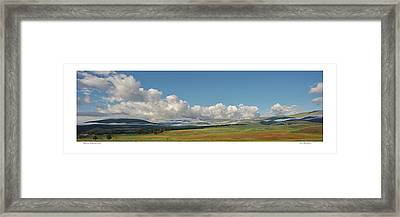 Moreno Valley Clouds Framed Print