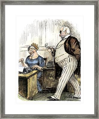 Morgan & Roosevelt, C1905 Framed Print by Granger