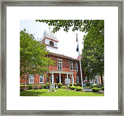 Morgan County Courthouse Framed Print by Paul Mashburn