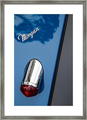 Morgan Plus 8 Taillight And Name Badge Framed Print by Roger Mullenhour