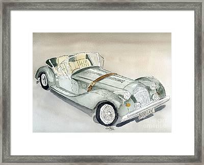 Morgan Sports Car Framed Print by Eva Ason