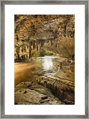 Moria Gate Arch And Oparara River Framed Print