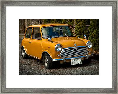 Moris Mini Cooper Framed Print by Sebastian Musial
