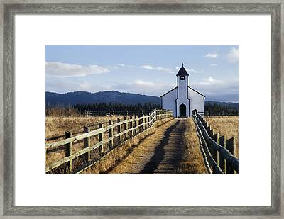 Morley Church, Morley, Alberta, Canada Framed Print