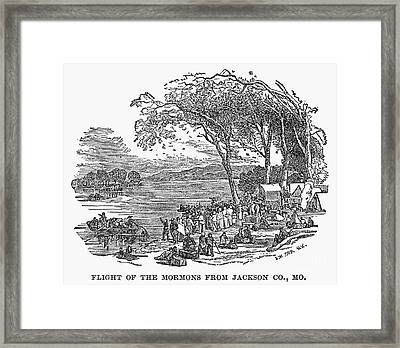 Mormon Flight, 1833 Framed Print
