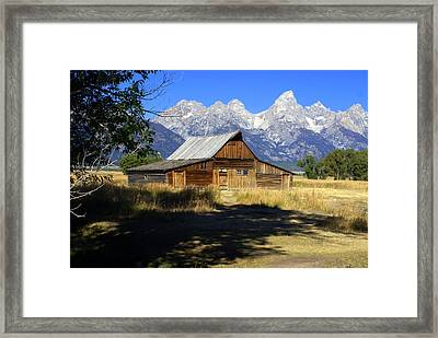 Framed Print featuring the photograph Mormon Row Barn by Marty Koch