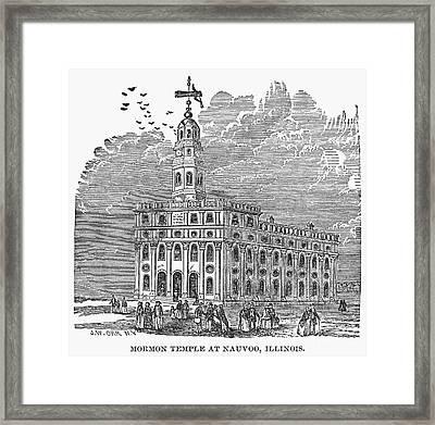 Mormon Temple, Nauvoo Framed Print by Granger